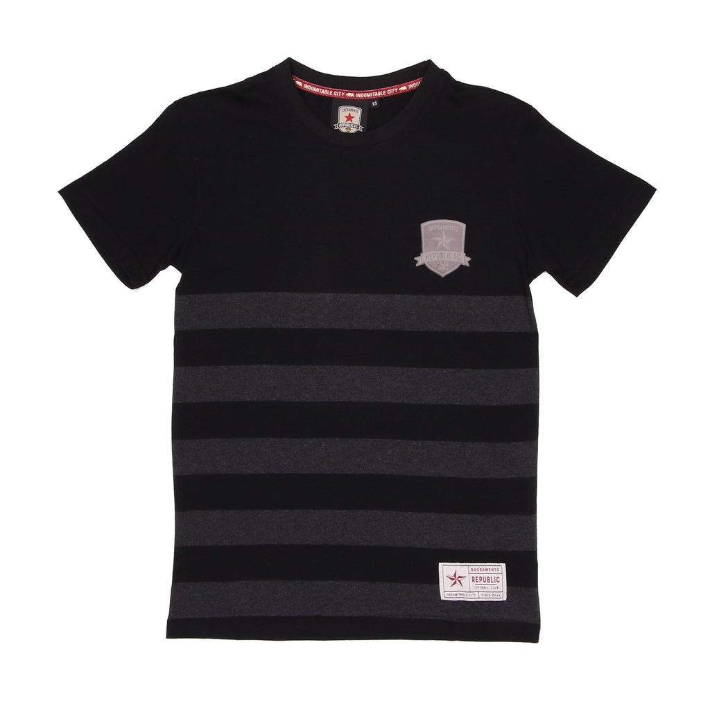 Men's Black Striped Tee by SDS