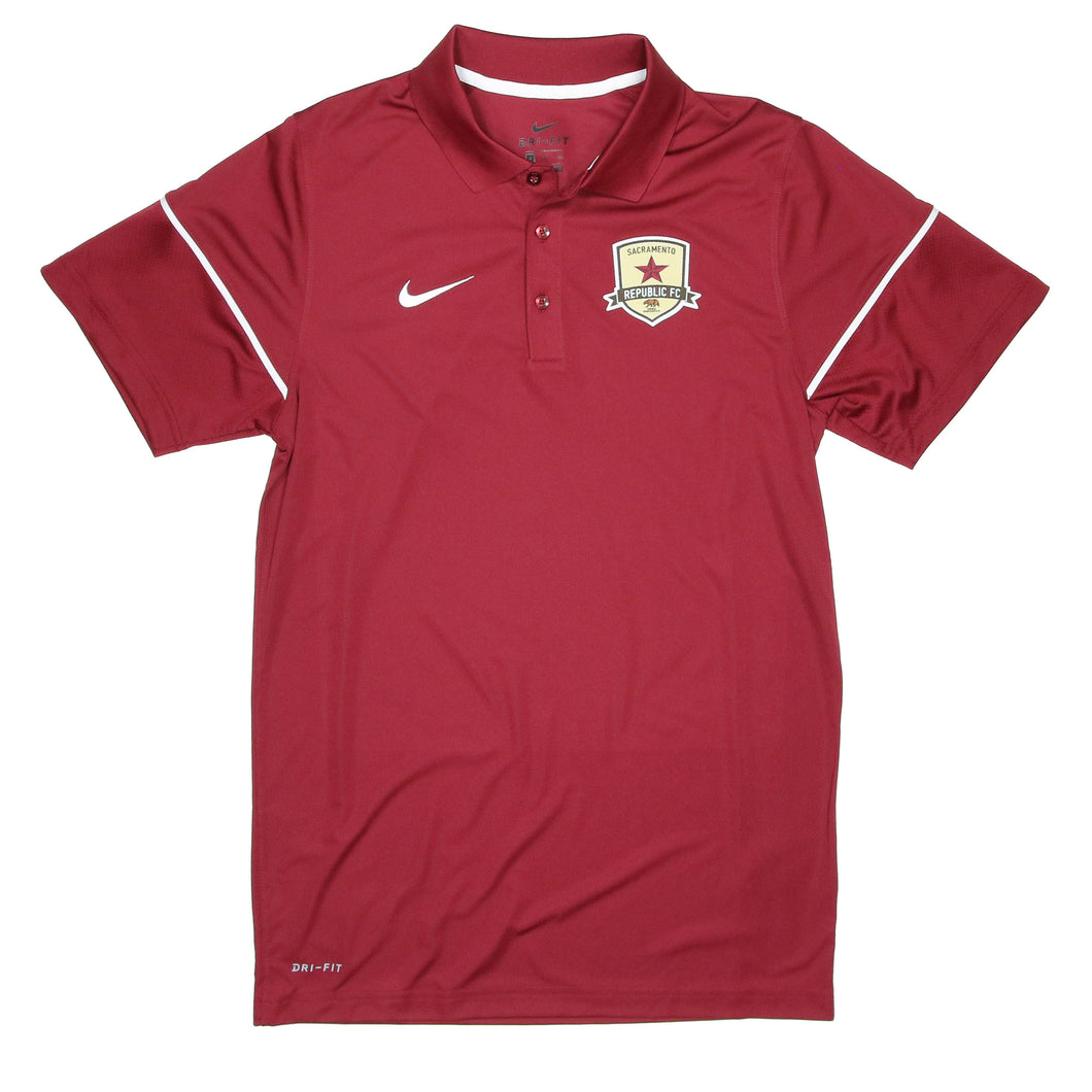 Men's Dry Polo in Team Maroon