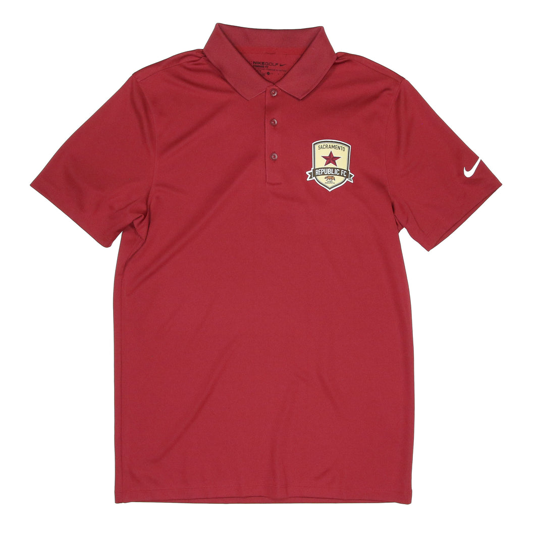 Men's Victory Polo in Team Maroon