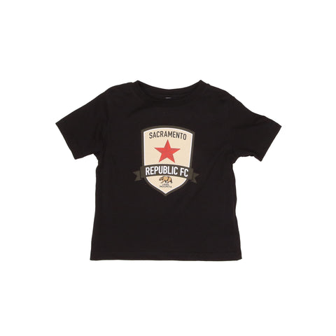 Original Crest Toddler Tee in Black