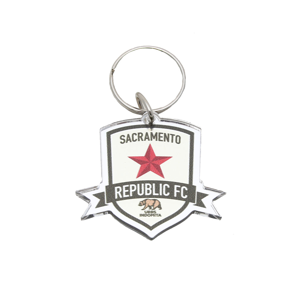 SRFC Metallic Key Ring