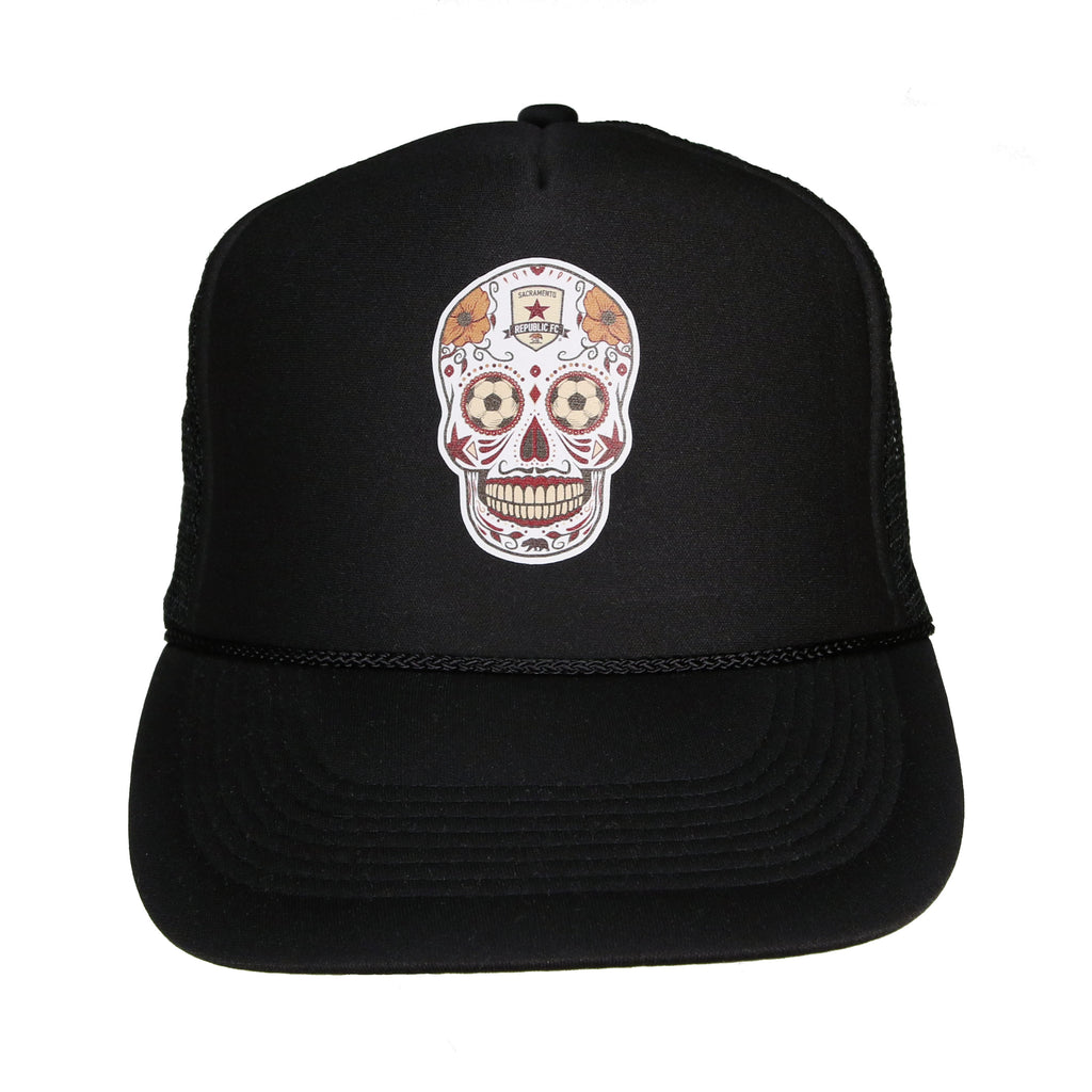 Sugar Skull Snap Back Trucker's Cap