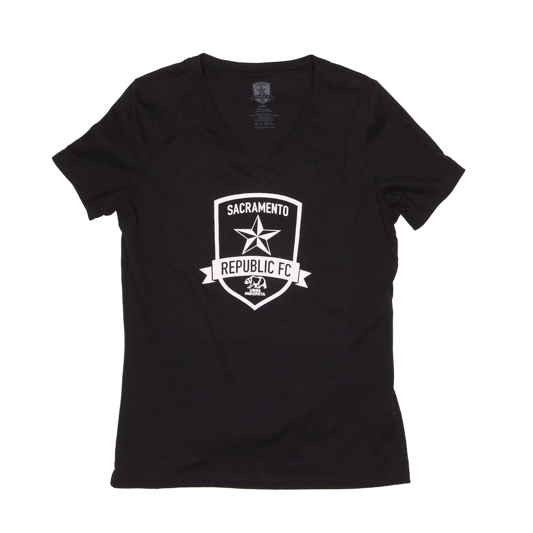 Womens Classic Black Heather Tee