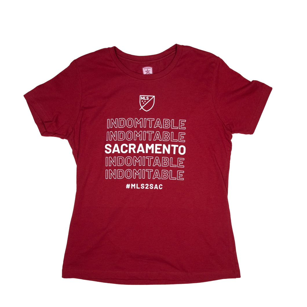 Womens Indomitable Tee in Cardinal