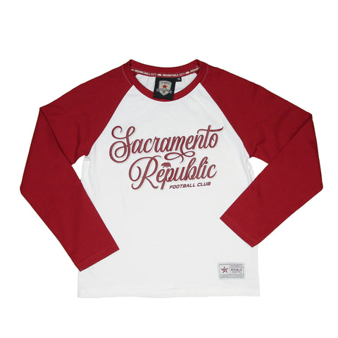 Youth Dual Print Raglan LS Tee by SDS