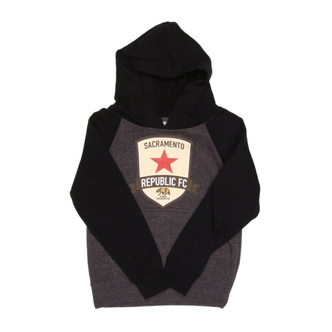 Youth Original Black Raglan Hoodie