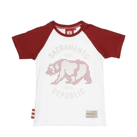 Youth Pixel Bear Raglan Tee by SDS