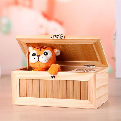 Wooden Interactive Electronic Cute Tiger Box
