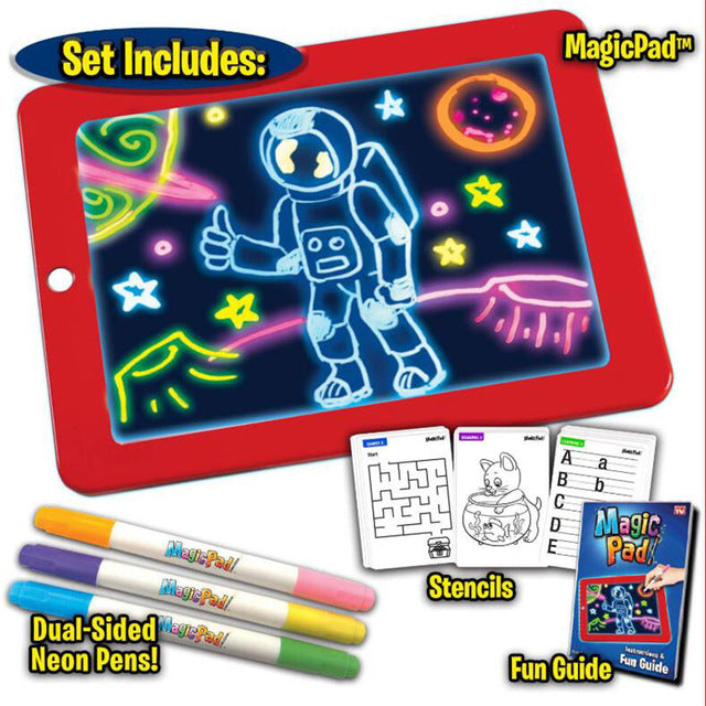 3D Magic Luminous Light Drawing Board