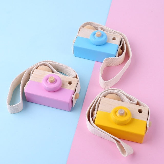 Wooden Toy Camera Hanging Decor