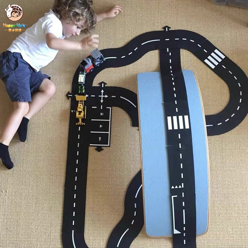 Children's DIY Construction Highway Track Building Blocks