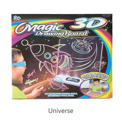 Deluxe Light Up LED 3D Drawing Writing Board