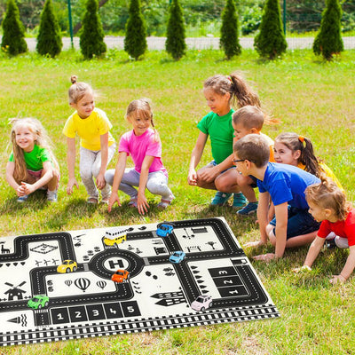 Portable Waterproof Toddler Crawling Non-woven Fabric Traffic Parking Map