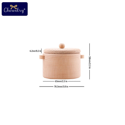 Beech Wood Kitchen Cookware Tea Cup Microwave Oven Set