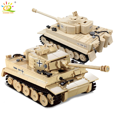 Military German King Tiger Tank Building Block