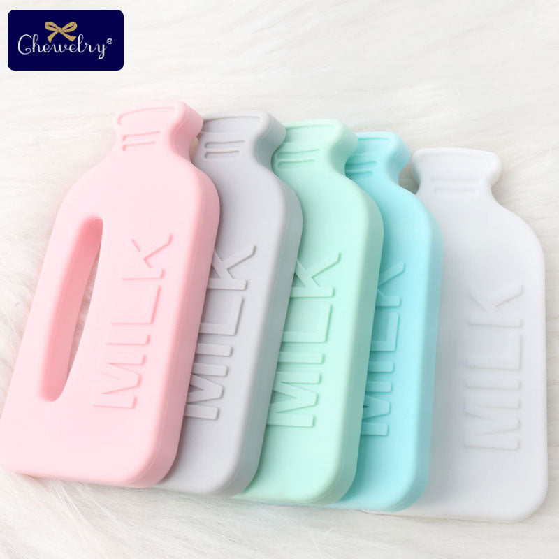 Premium Baby Food Grade Silicone Milk Bottle Teether