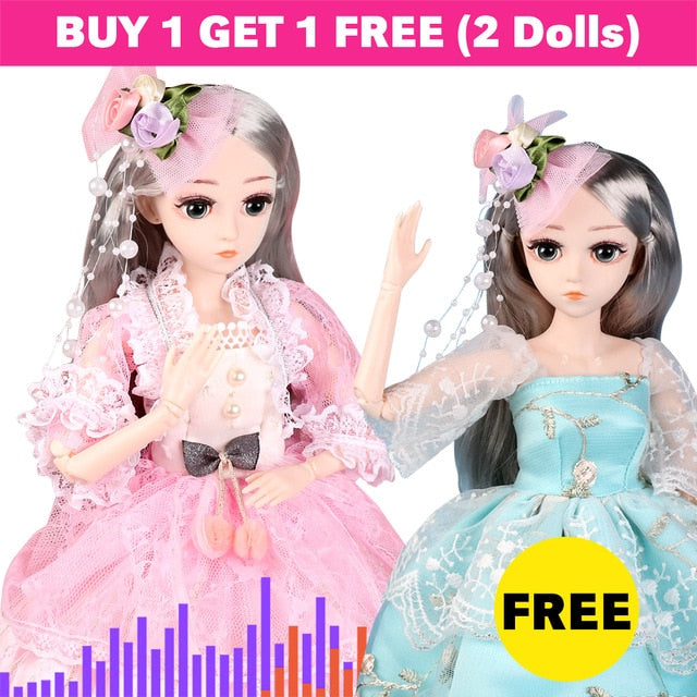 BJD Dolls 18 inches (45CM) with 19 Joins (Buy 1 get 1 Free)