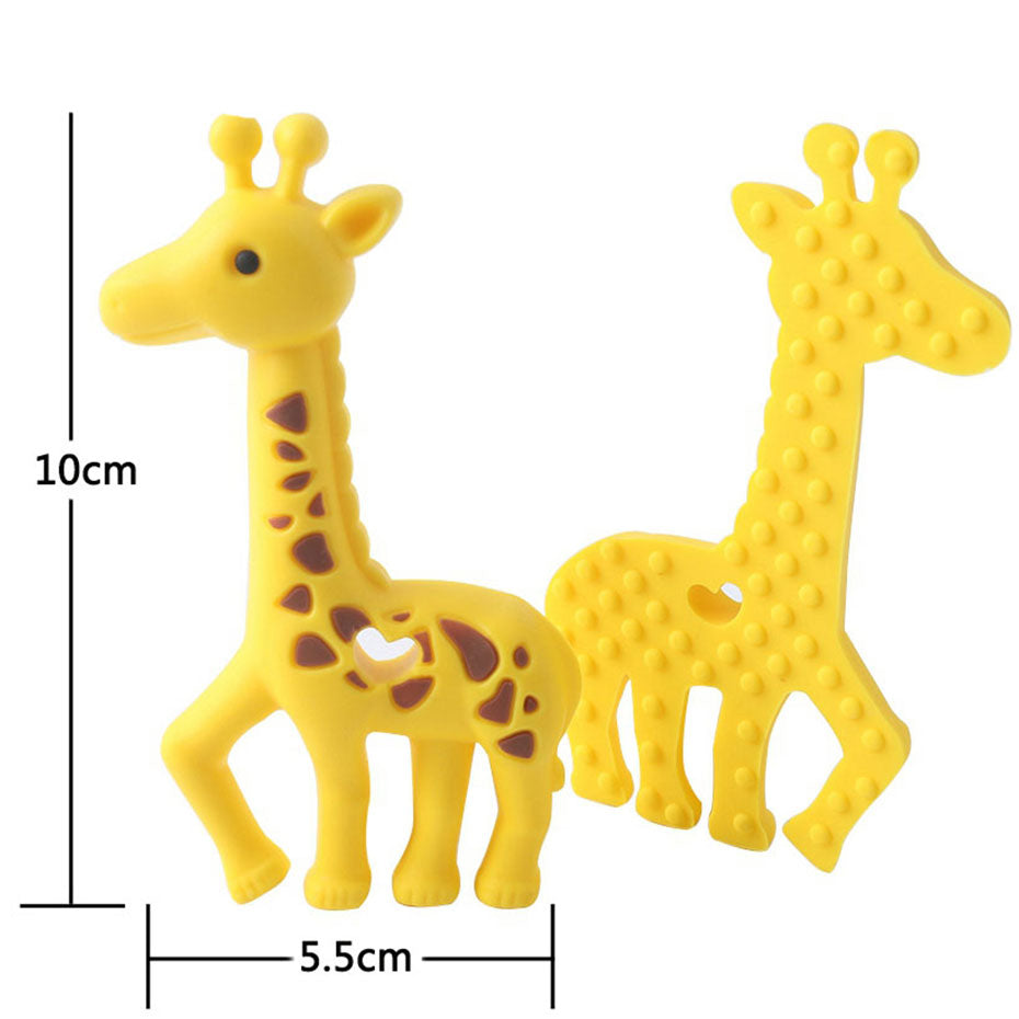 Premium Baby Food Grade Silicone Giraffe Teether