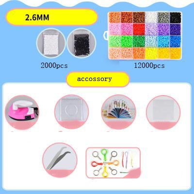 24 Colors DIY Beads for 3D Animal/Cartoon Blocks for Children With Iron