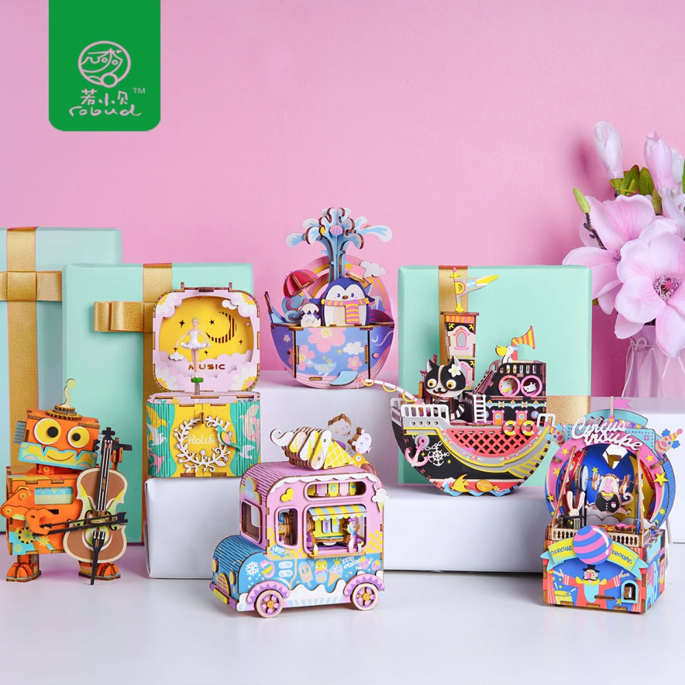 Creative DIY 3D Wooden Toys