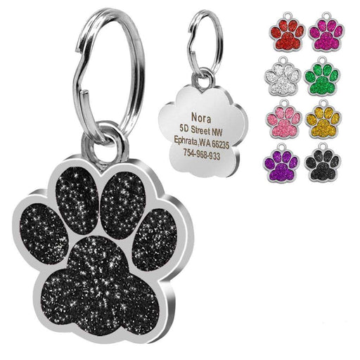 Personalised Paw Print Dog Tag - Pawsky Pets