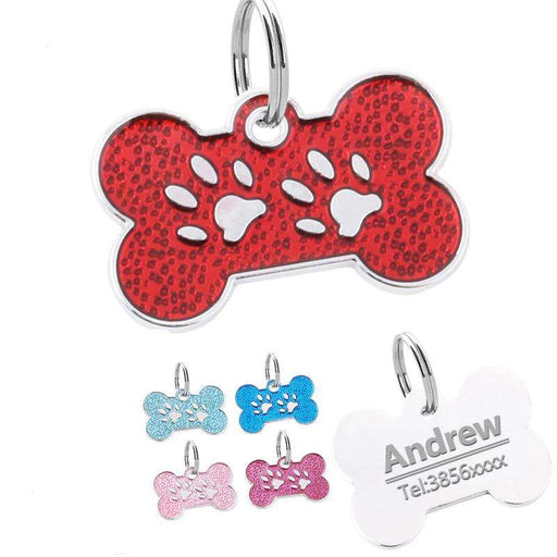 Personalised Bone Print Dog Tag - Pawsky Pets