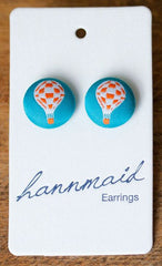 hot air balloons earrings