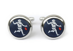 afl cufflinks navy & red