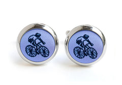 cyclist cufflink pastel purple