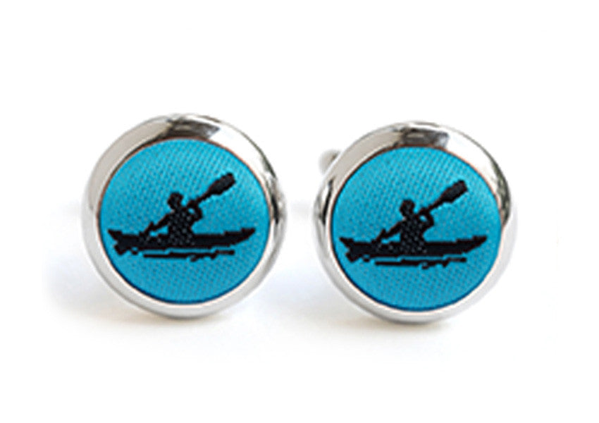 kayak cufflinks blue & black