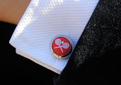 tennis cufflinks styled