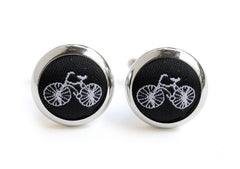 bike cufflink black & white