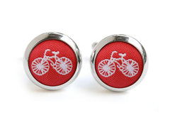 bike cufflink red & white