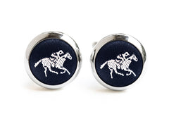 horse cufflinks black & white