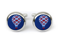hot air balloons cufflinks blue & red