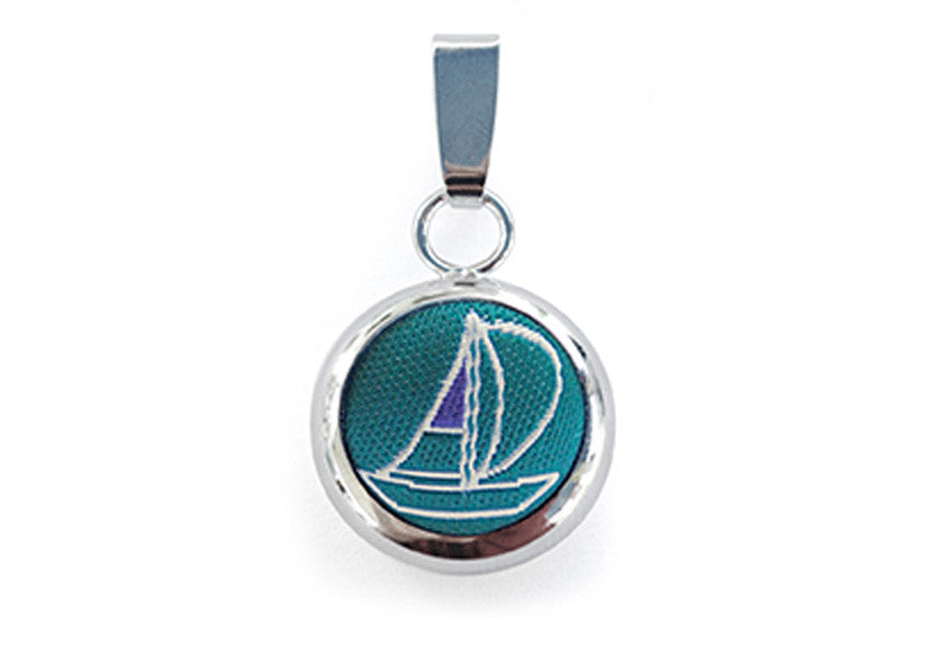sailing pendant green & white