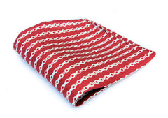 the chain pocket square red
