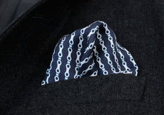 the chain pocket square styled