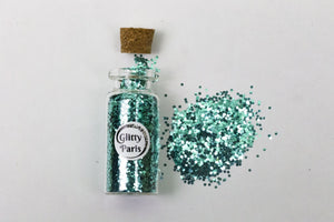 paillettes biodegradables turquoises Glitty Paris