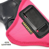 ECO- LEATHER Pink Holster IWB with metal clip