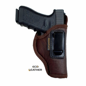 ECO- LEATHER Brown Holster IWB with metal clip