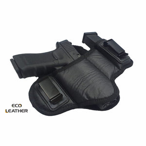 ECO-LEATHER- IWH Dual Clip w/ Mag Holder -  Holster