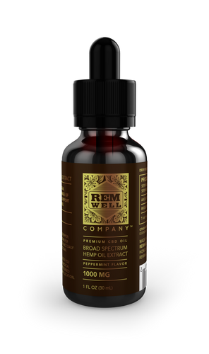 1,000mg Broad Spectrum CBD Oil - RemWell Co.