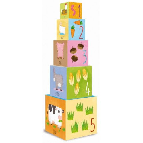 Baby Animals of the Farm Stacking Blocks