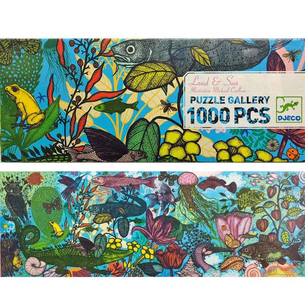djeco gallery puzzle land and sea 1000pcs