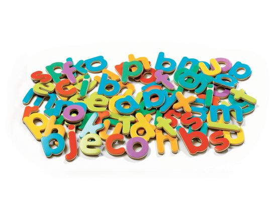 Djeco Wooden Magnetic 83 script letters