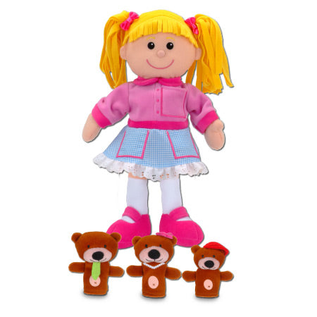 Goldilocks Hand & Finger Puppet Set