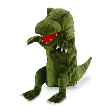 Green Dinosaur Moving Mouth Hand Puppet