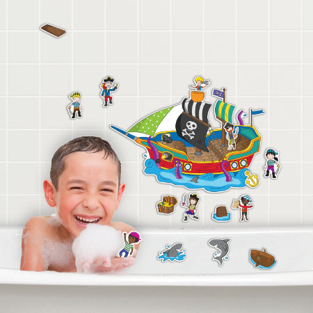 Pirate Ship Stickabouts Bath Set