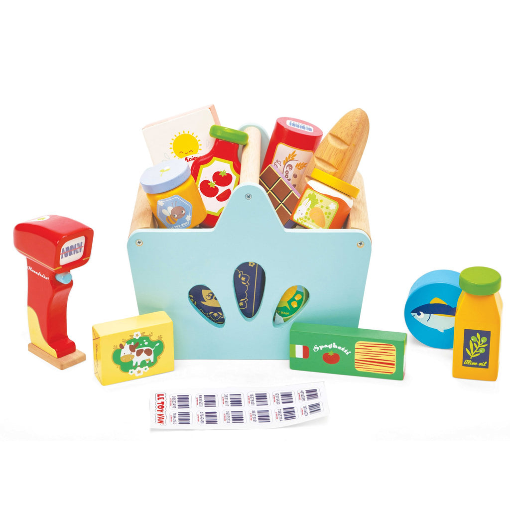 le toy van grocery set with scanner